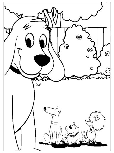 coloring page clifford coloring pages 2