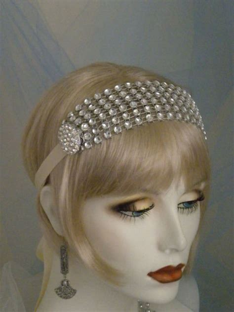 how to make 1920s headpieces 1920 s headpiece flapper headband gatsby headband ivory