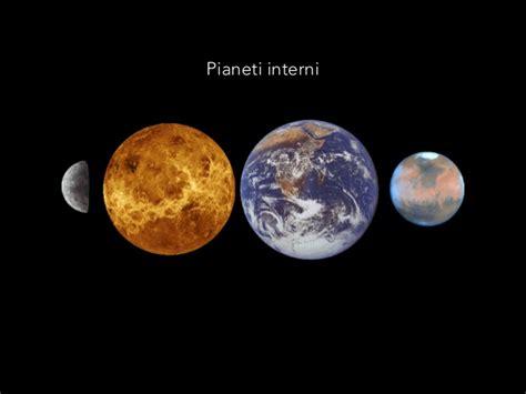 pianeti interni ed esterni pianeti sistema solare
