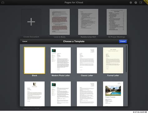 templates for pages ios icloud beta review ios 7 aesthetics and new iwork apps arrive