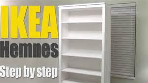 Ikea Bill Bookcase Ikea Hemnes Bookshelf Step By Step How To Assemble 002