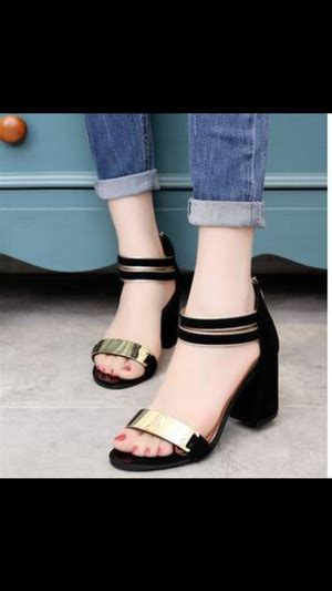 Heels Hak Tahu Ml01 Hitam high heels ryn fashion