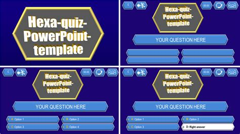 Quiz Template Hexa Download Ppt Themes Ppt Quiz Template