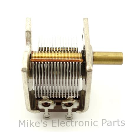 a variable air capacitor used in a radio tuning circuit 384pf air variable capacitor mike s electronic parts