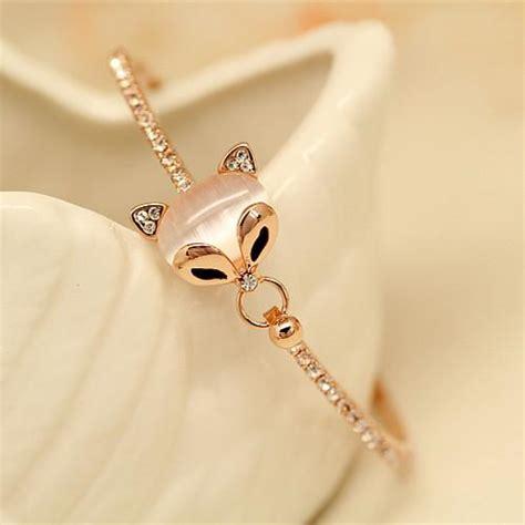 Korean Bracelet Charm Believe Gelang Korea korean fashion gold bracelet korean fox bracelet ring retro