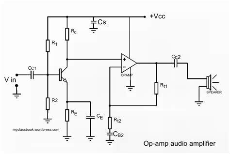 lifier transistor op audio lifier using op electronics project myclassbook