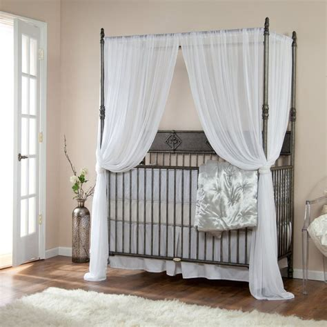 Crib Tent For Convertible Cribs Bratt Decor Wrought Iron Indigo Convertible Canopy Crib Pewter Our Ones