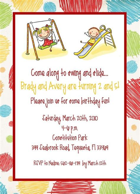 printable joint birthday party invitations 8 best joint birthday party invitation images on pinterest