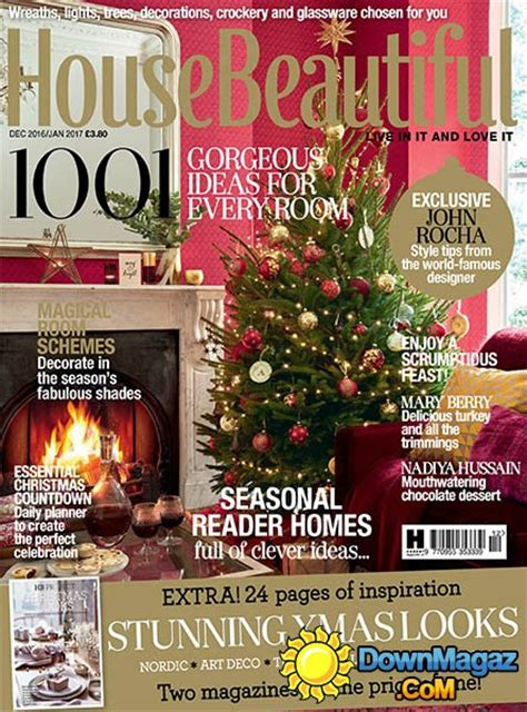 house home magazine december 2016 edition texture house beautiful uk december 2016 january 2017