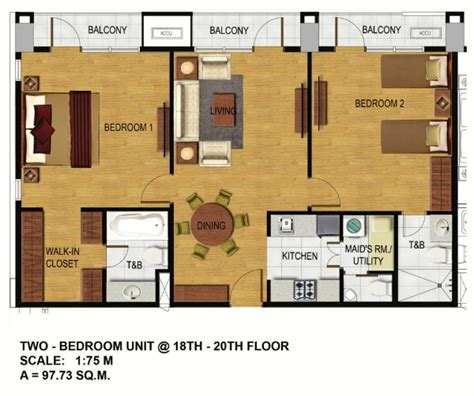 2 bedroom unit floor plans arterra residences
