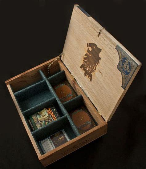 magic decks magic the gathering wooden deck box undercrown cigar box