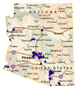 show me a map of arizona map of arizona cities free printable maps