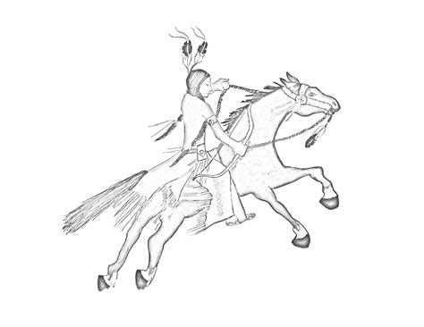 indian warrior coloring pages magnificent warrior