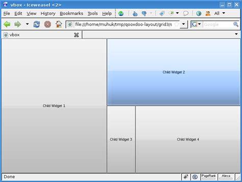 Qooxdoo Layout Grid | using layouts in qooxdoo part 4 grid layout muhuk s blog