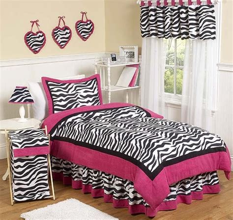 pink teen bedding hot pink black white funky zebra teen bedding 3 pc