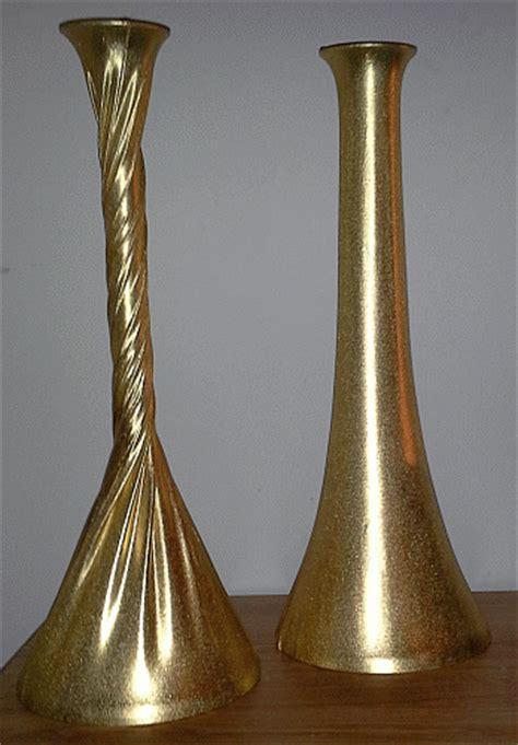 Gold Eiffel Tower Vases by Metallic Gold Spandex Vase Kit