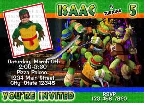 turtle invitation tmnt invitations