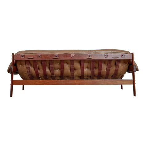 Percival Lafer Rosewood And Distressed Leather Tufted Sofa Distressed Leather Sofa Sale