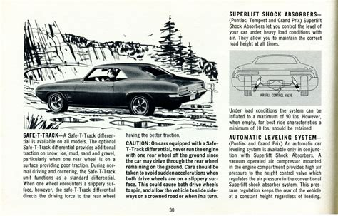 old car repair manuals 1969 pontiac grand prix parking system 1969 pontiac owners manual 69pontownrmanp30 jpg
