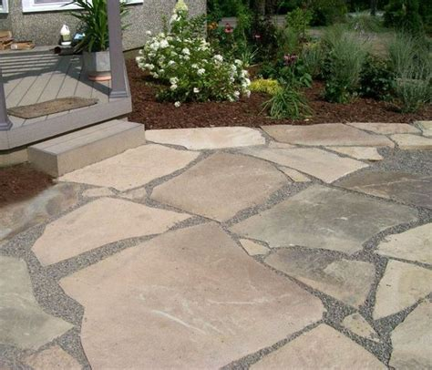 broken flagstone patio with crushed joints