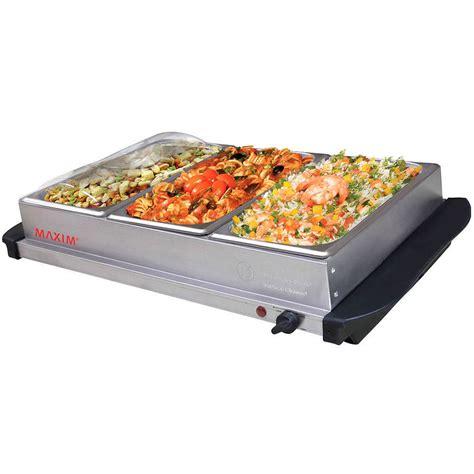 Maxim Electric Buffet Server Food Warmer Stainless Steel W Buffet Server Warmer
