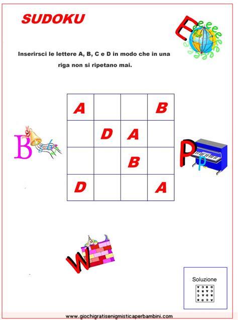 lettere per ragazzi sudoku con lettere enigmistica per bambini e ragazzi
