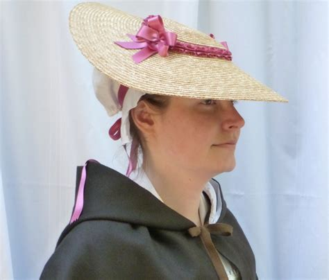 How To Make A Colonial Hat Out Of Paper - 18th century shallow crown straw hat trimmed w pink silk