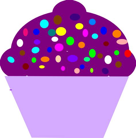 cupcake clipart cupcake purple clip at clker vector clip