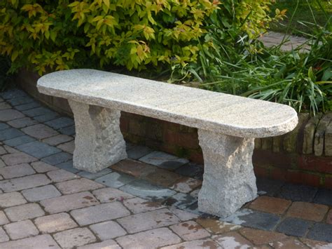 granite benches beige rustic stone garden bench 163 259 99 garden4less uk