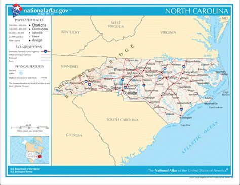 printable road map of north carolina north carolina road map north carolina usa mappery