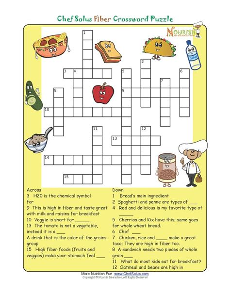 printable crossword puzzles vegetables while dinner is cooking challenge your little chefs to a