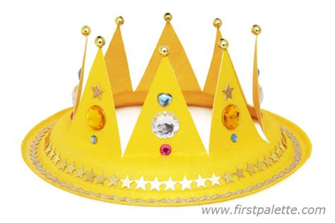 Paper Crown Craft - paper plate crown craft crafts firstpalette
