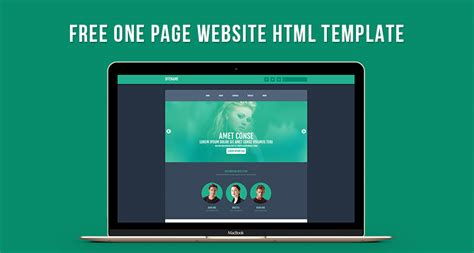 Free One Page Website Html Template Free Html5 Templates Free One Page Html Template