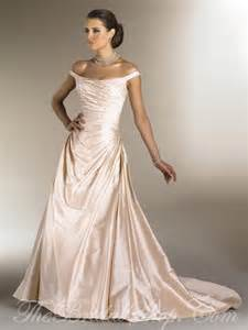 champagne color wedding dress