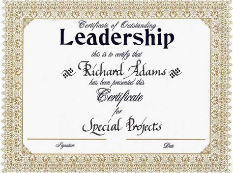 templates for leadership certificates image gallery leadership certificate