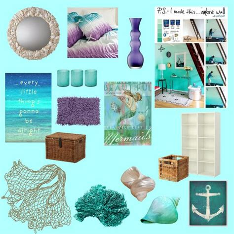 Mermaid Room Decor Addie S Mermaid Room Mermaid Room Mermaids And Polyvore