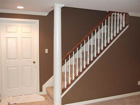 Stair Banister Ideas by Basement Remodeled Basements
