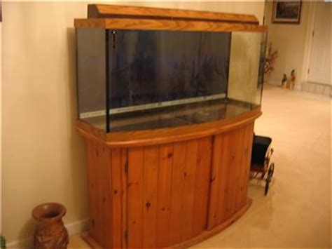 Stand Galon Aqua 72 gallon bow front aquarium fish tank with light and