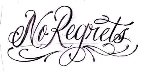 cursive no regrets by joelrosales on deviantart