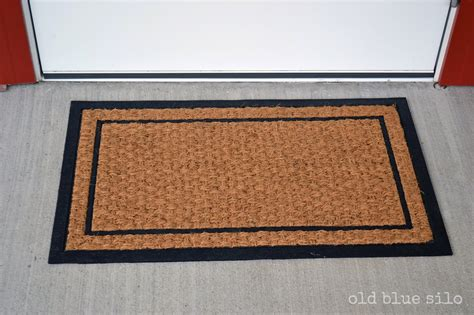 Door Rug Blue Silo Diy Custom Front Door Mat
