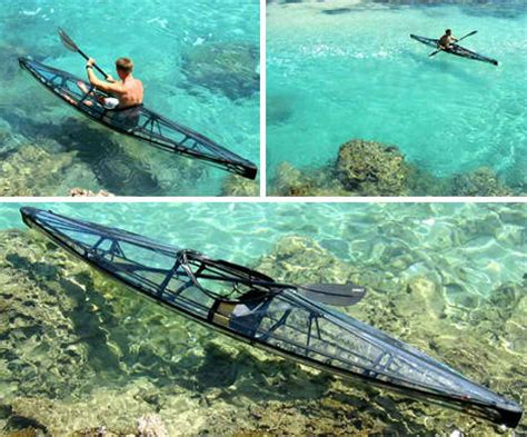 clear kayak clear sailing cleverly transparent canoes kayaks urbanist
