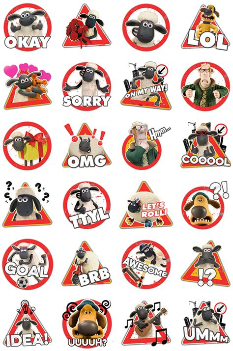 Stiker The shaun the sheep stickers