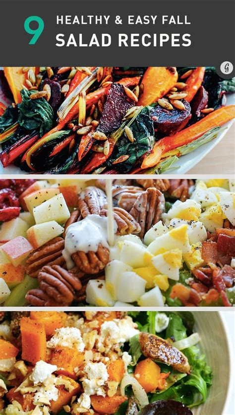 9 healthy and easy salad recipes that taste like fall restaurant fitness motivation and salad
