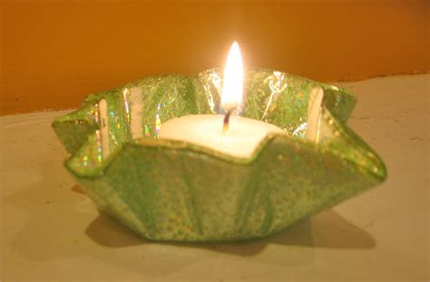 candle holder craft upcycle cd votive candle holders factory direct craft