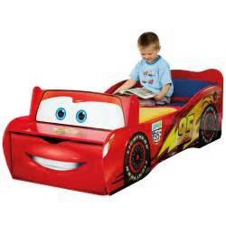 Toddler Car Bed Mattress Disney Cars Toddler Feature Bed Lightning Mcqueen New Ebay