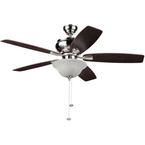 52 Quot Honeywell Elston Ceiling Fan With Led Satin Nickel