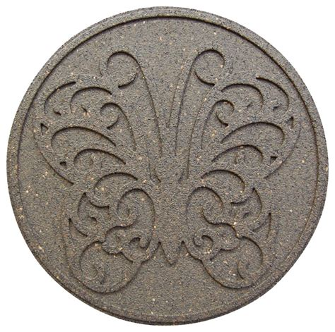 decorative stepping stones home depot envirotile round decorative earth step stone 18 inch