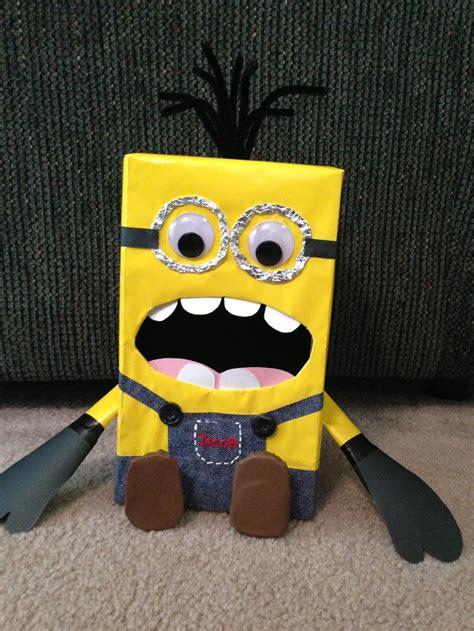 how to make a minion valentines day box despicable me minion box s day box