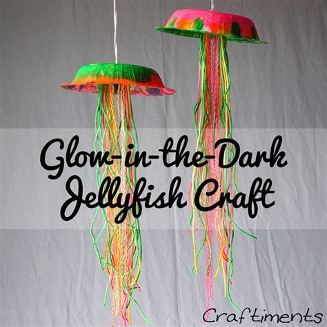 Sting Paper Crafts - glow in the jellyfish think crafts by createforless