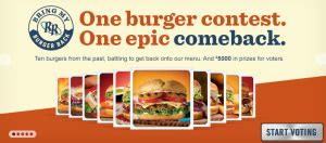 Red Robin Sweepstakes - red robin quot bring my burger back quot sweepstakes win a 500 red robin gift card